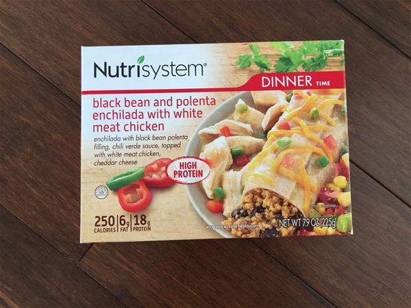 nutrisystem black bean and polenta enchilada with chicken