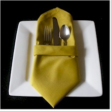 buffet folded napkin