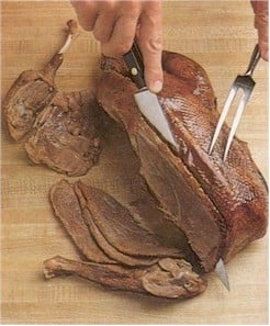 carving goose breast