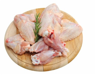 chicken on cutting board