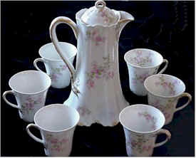 limoges chocolate pot set