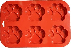 silcone dog treat mold paw shape