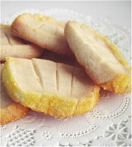 lemon shortbread slices