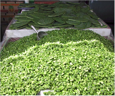 nopalitos in the market
