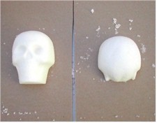 sugar skulls drying