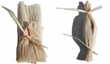 tamales with 2 ties