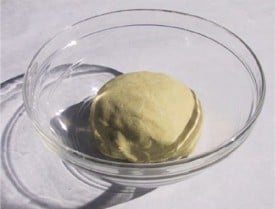 ball of masa dough in bowl