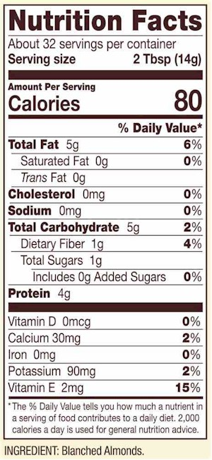 almond flour nutritional information