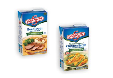 beef and chicken broth