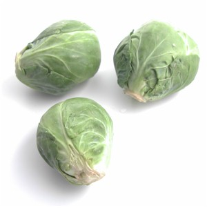 3 raw brussels sprouts