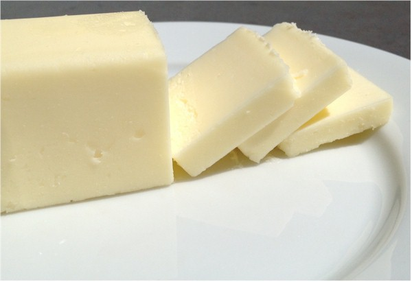 butter cubes with slices