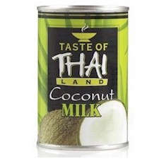 coconut milk in can