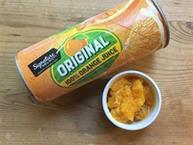 frozen orange juice can and pulp