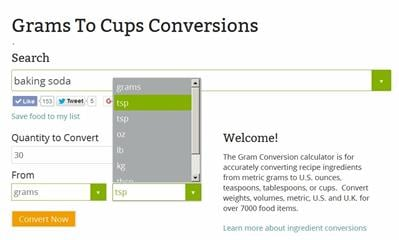 Cooking Measurement Conversion Chart Grams To Cups The Hip