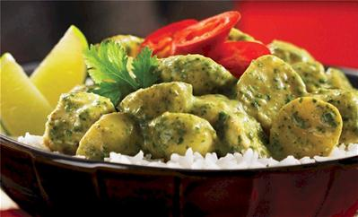 green curry new potatoes
