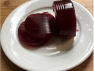 jellied cranberry sauce on plate
