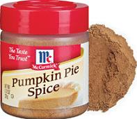 Pumpkin pie spice conversion