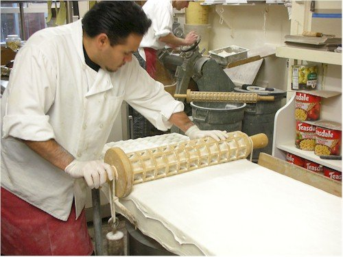 ravioli being made by hand