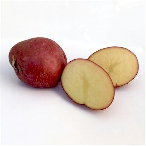 red potatoes one cut open