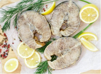 sturgeon steaks