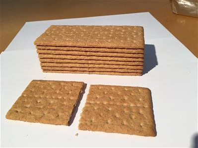 graham crackers stacked up