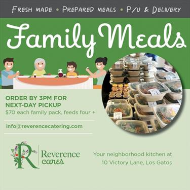 reverence catering family packs