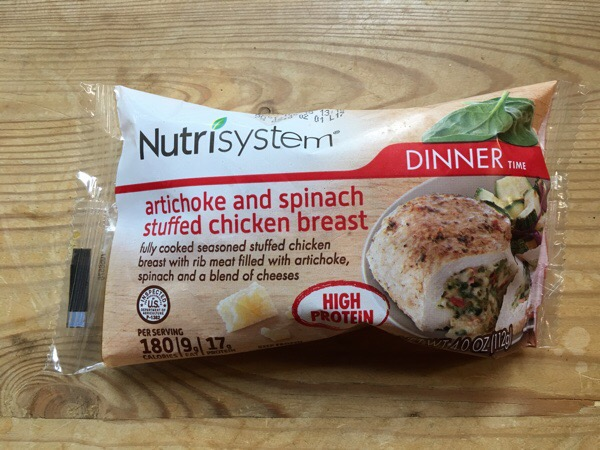 nutrisytsem artichoke-spinich-chicken-breast