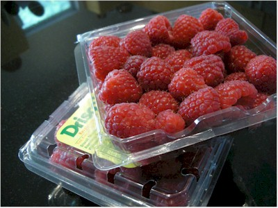 fresh raspberries for tart