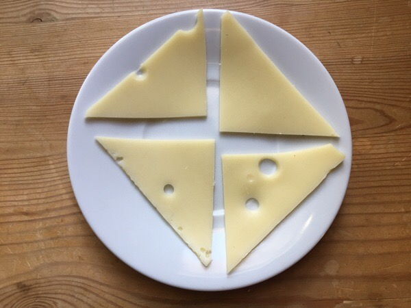 1 ounce swiss cheese sliced