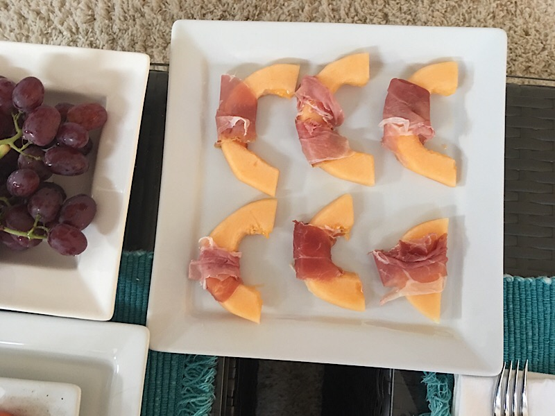 healthy living day 17 prosciutto and melon