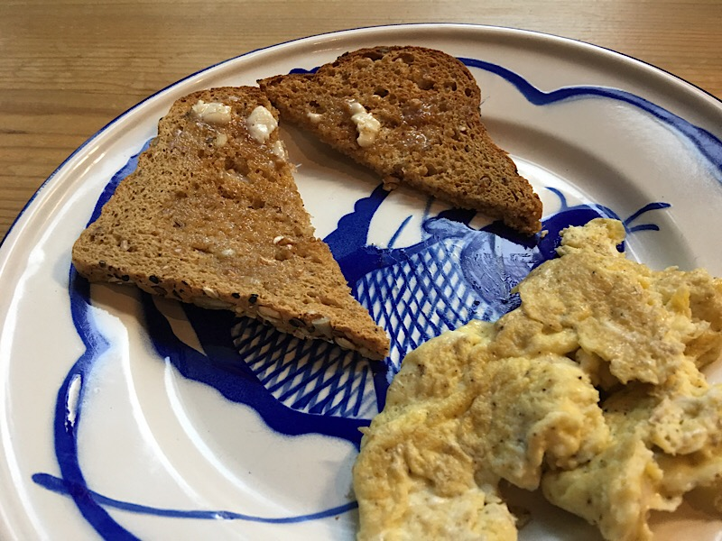 healthy living day 24 breakfast close up