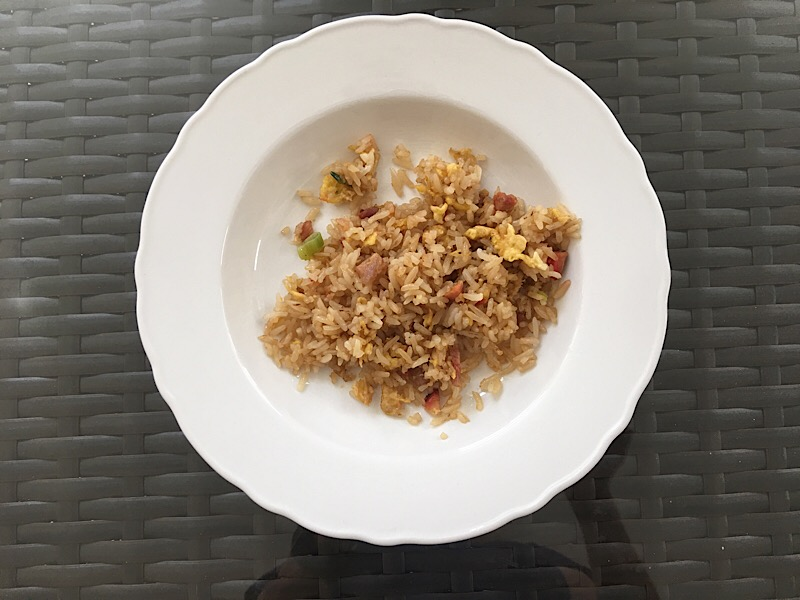 healthy living day 27 lunch fried rice