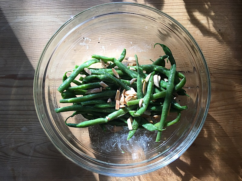 healthy living day 9 dinner bean salad