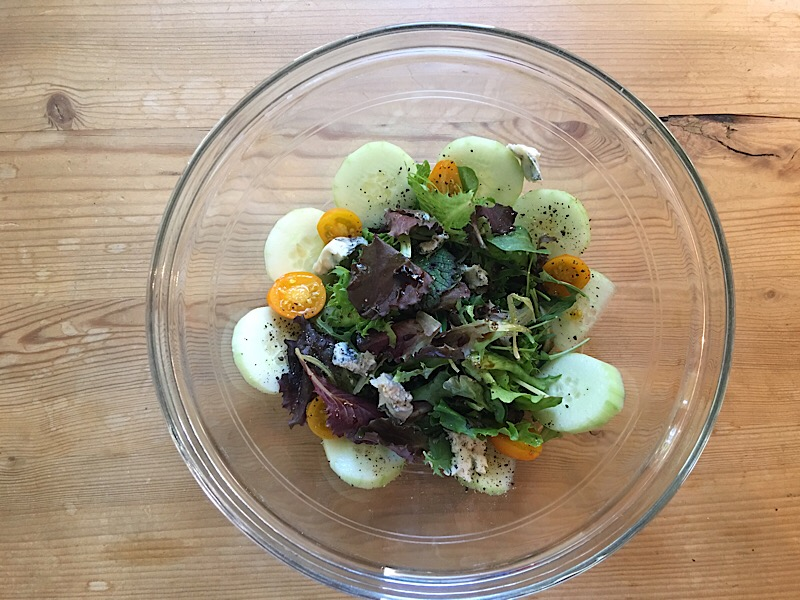 healthy living day 9 lunch salad