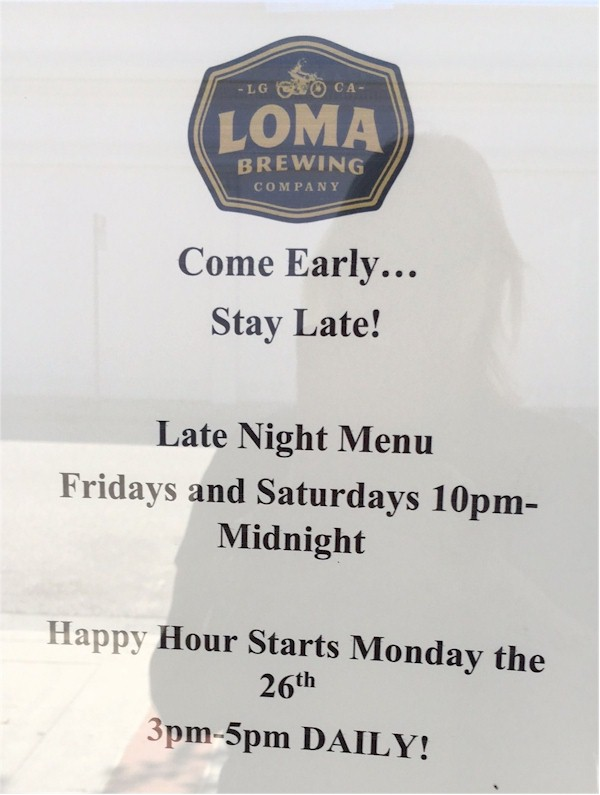 loma brewery adds happy hour and late night menu