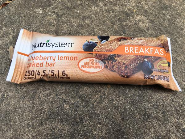 nutrisystem blueberry lemon baked bar