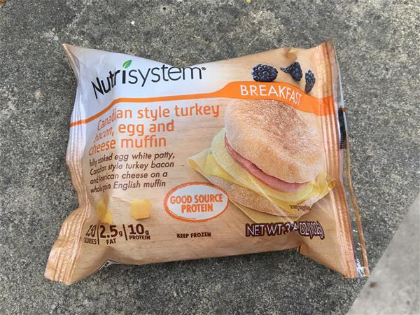 nutrisystem canadian sytle turkey bacon egg and cheese muffin