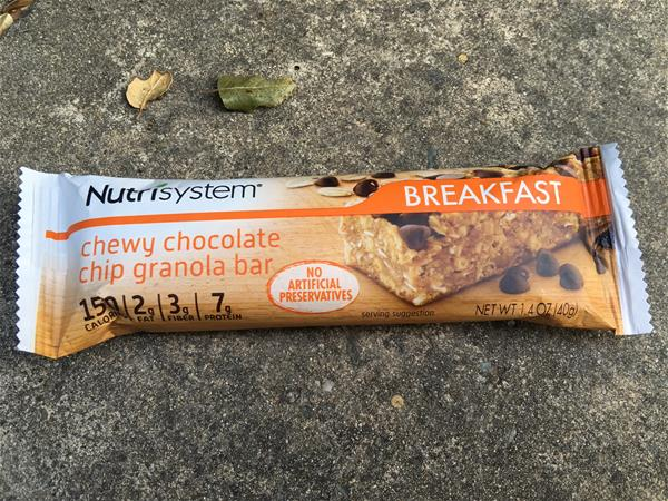 nutrisystem chewy chocolate chip granola bar