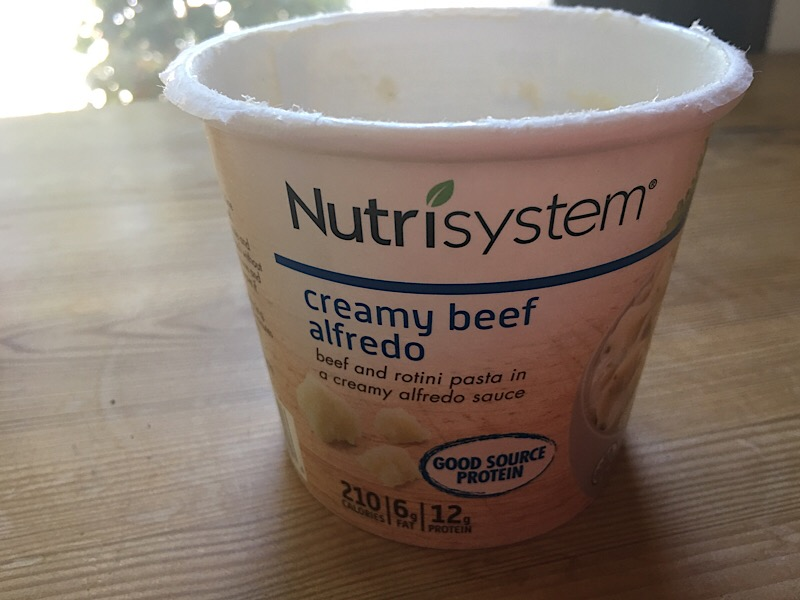 nutrisystem cream beef alfredo in cup