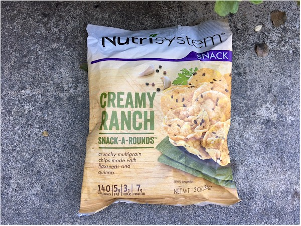 nutrisystem creamy ranch snack-a-rounds