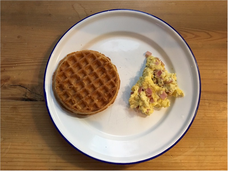 nutrisystem day 110 breakfast waffle scrambled eggs