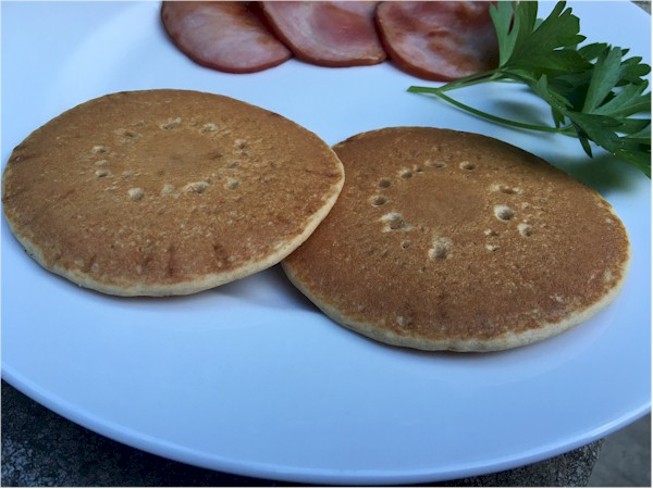 nutrisystem pancakes close up on plate