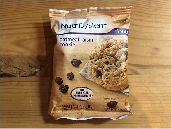 nutrisystem oatmeal raisin cookie