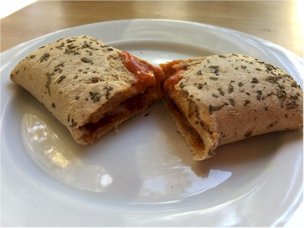nutrisystem pepperoni pizza melt on plate