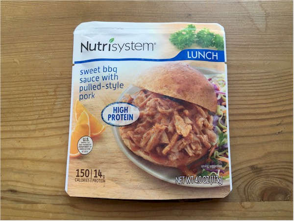 nutrisystem sweet bbq sauce with pulled style pork