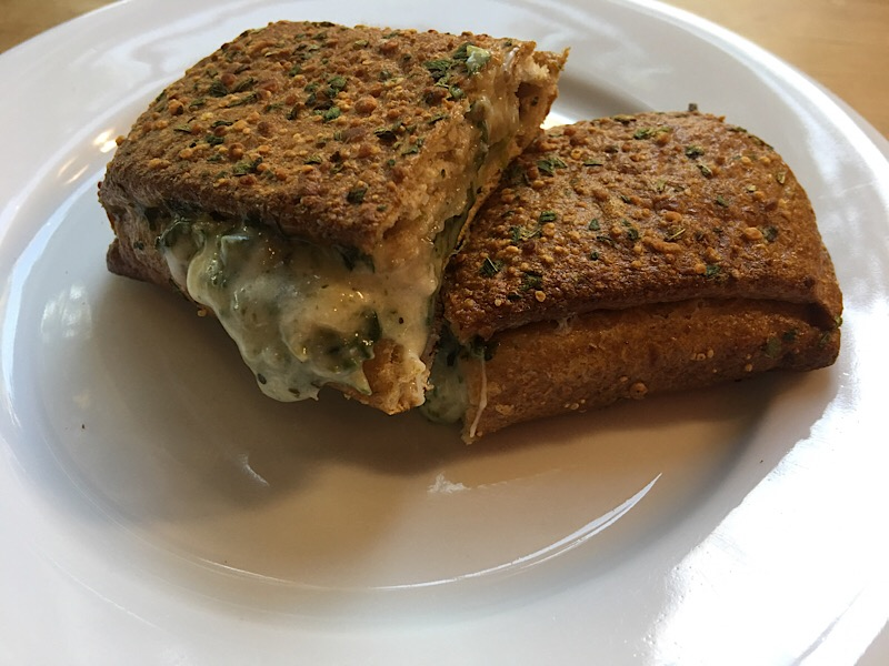 nutrisystem spinach and cheese melt cut in half