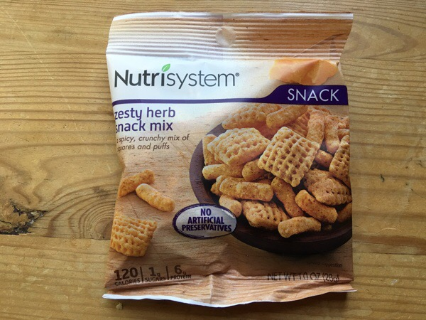 nutrisystem zesty herb snack mix