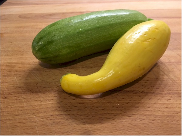 summer squash yellow and green