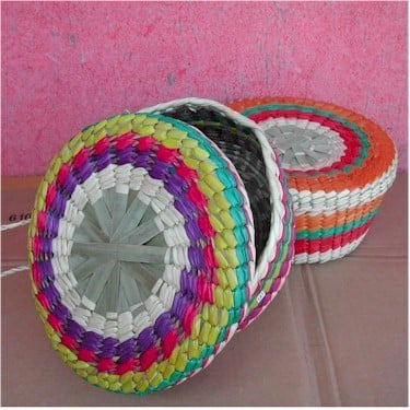 colorful tortilla baskets