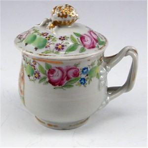 chinese export floral pot de creme cup
